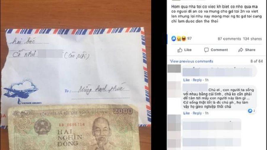 Vị khách vô duyên nhất năm: Đi đám cưới bỏ phong bì 2 nghìn đồng còn viết giấy với nội dung khiếm nhã về mâm cỗ mà gia chủ chuẩn bị