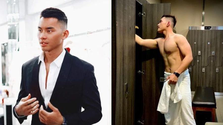Siêu mẫu Mạnh Khang giảm 10 kg, nhuộm đen da chuẩn bị cho Mister Supranational