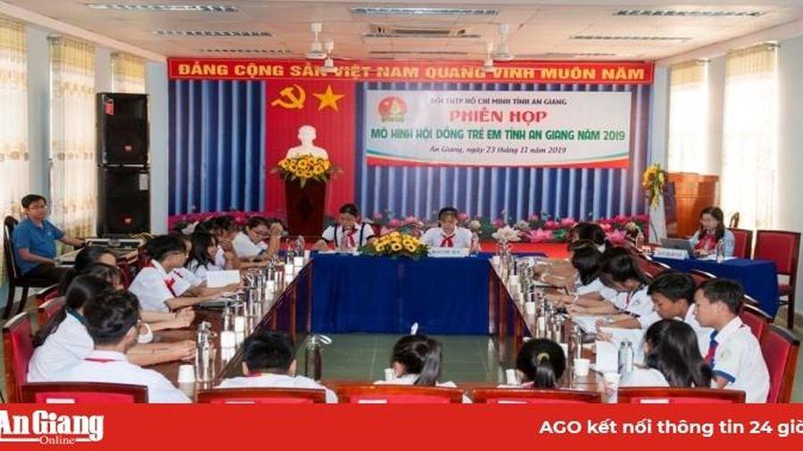 Phiên họp Mô hình Hội đồng trẻ em tỉnh An Giang năm 2019