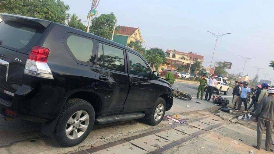 Hà Tĩnh: Va chạm ô tô Land Cruiser, 1 người đi xe máy tử vong