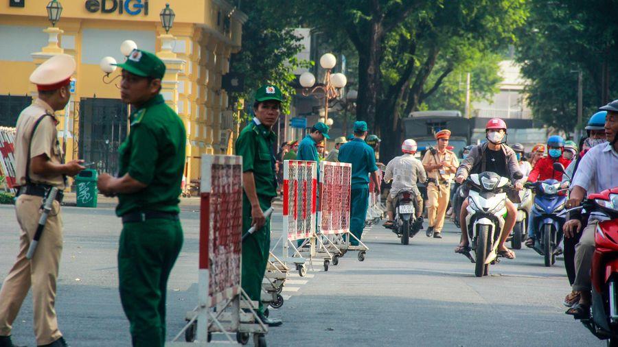 Phong tỏa khu trung tâm Sài Gòn, hàng trăm cảnh sát diễn tập quy mô lớn