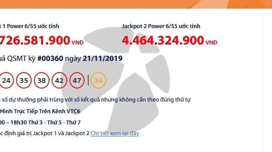 Kết quả xổ số Vietlott Power 6/55 ngày 23/11/2019: Lộ diện người trúng gầ 70 tỉ đồng?
