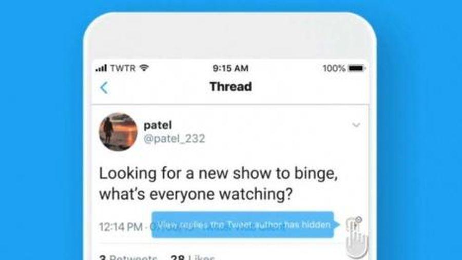 Twitter cho phép người dùng ẩn bình luận mà họ không muốn