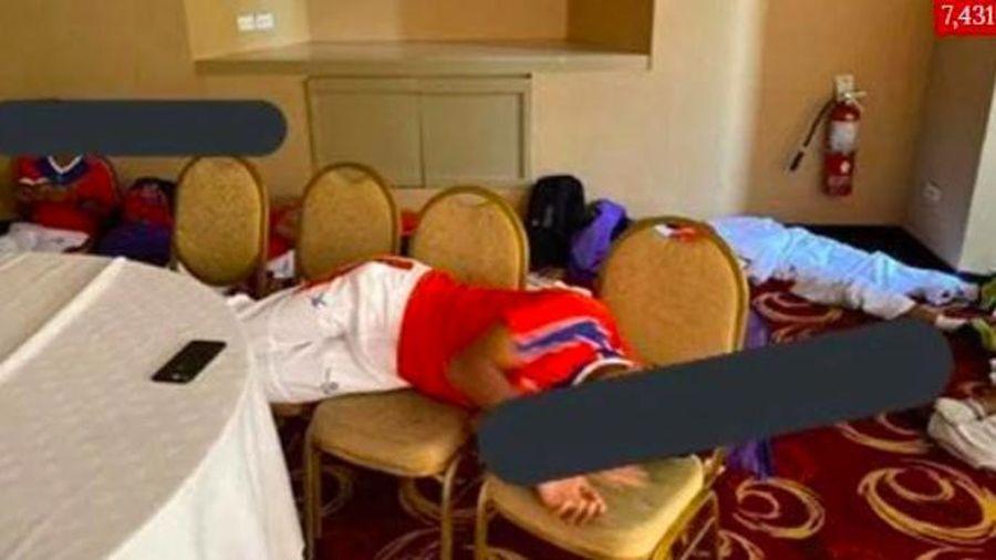 U22 Campuchia phải ngủ trên sàn khách sạn khi đến Philippines dự SEA Games 30
