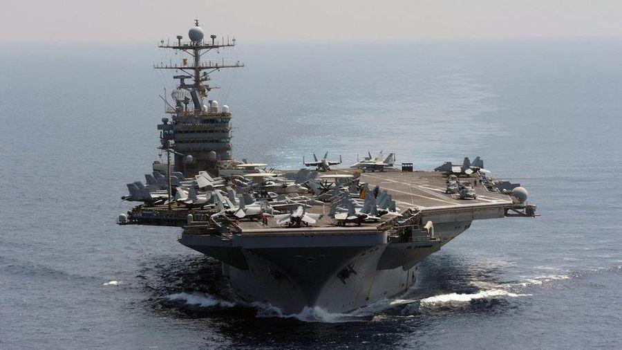 Nhóm tàu tác chiến sân bay Mỹ diễn tập quân sự gần Iran