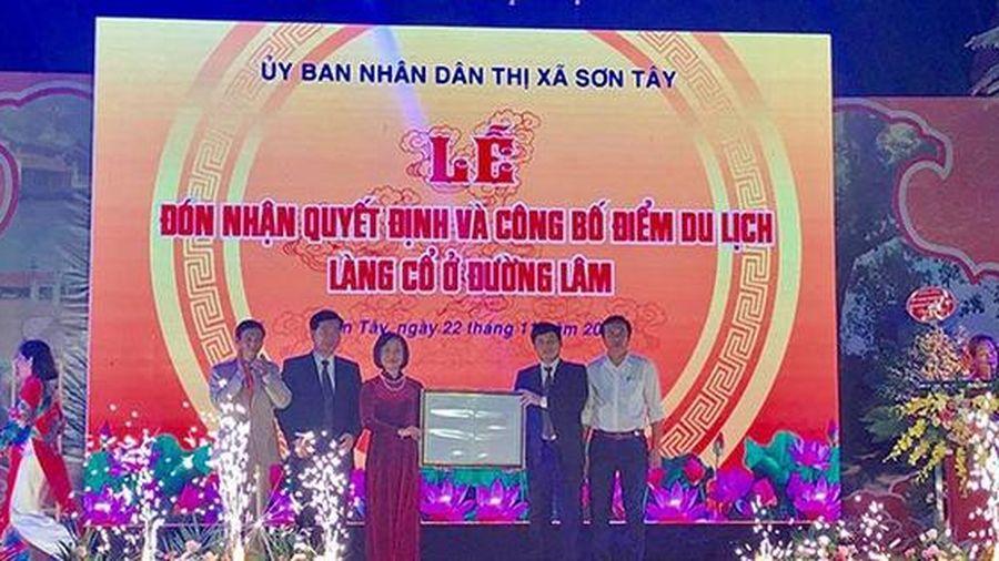 Trao quyết định công nhận làng cổ Đường Lâm là điểm du lịch