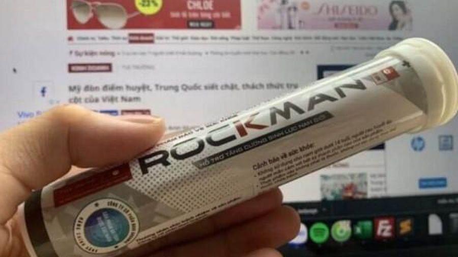 Sản phẩm Rockman bị cấm phát hành nội dung quảng cáo