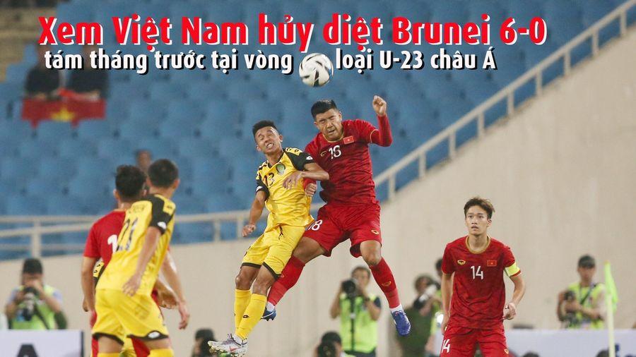 Xem thầy trò ông Park hủy diệt Brunei 6-0