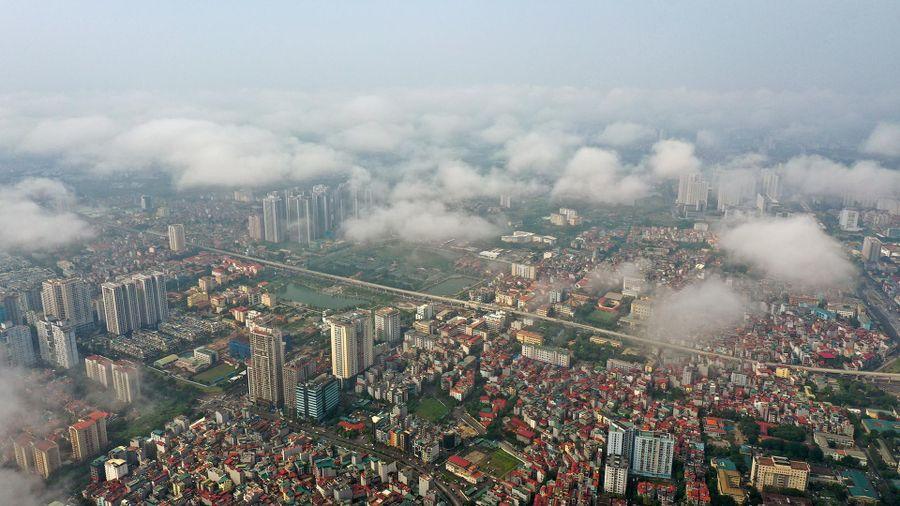 Không khí ở Hà Nội và TP.HCM trung bình sáng đầu tuần