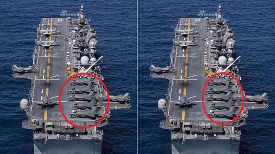 Choáng với dàn F-35 'xếp hàng ngay ngắn' trên tàu đổ bộ tấn công Mỹ