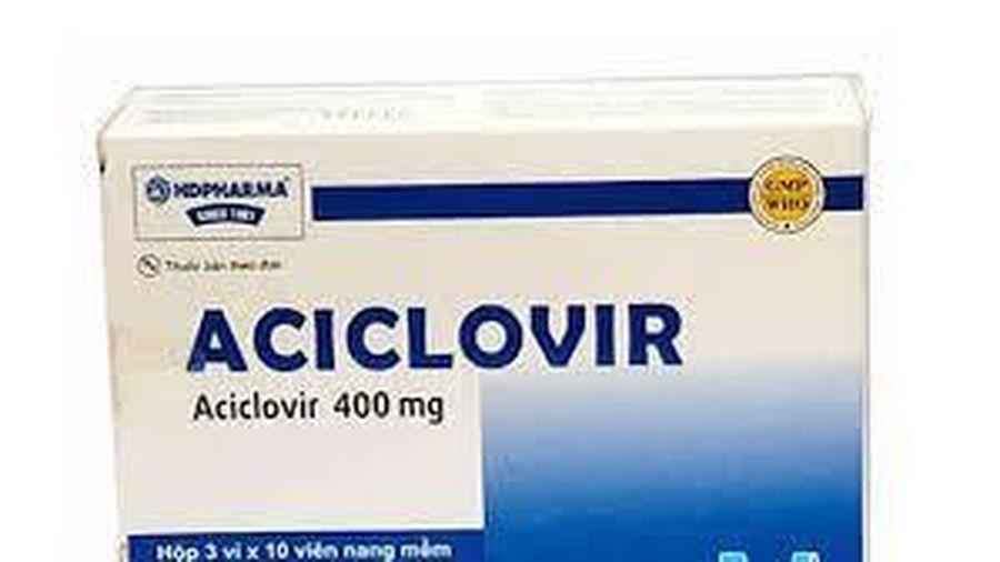 Thu hồi thuốc Viên nang mềm Aciclovir 400
