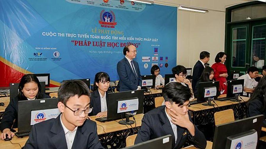 Công bố kết quả tuần 1 vòng loại cuộc thi trực tuyến 'Pháp luật học đường'