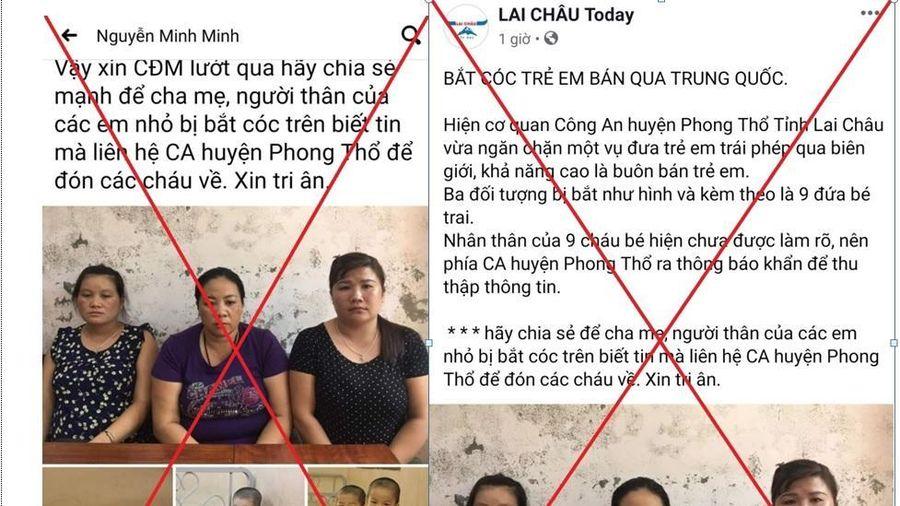 Thông tin '9 bé trai bị bán qua biên giới' sai sự thật, nhằm mục đích 'câu like'