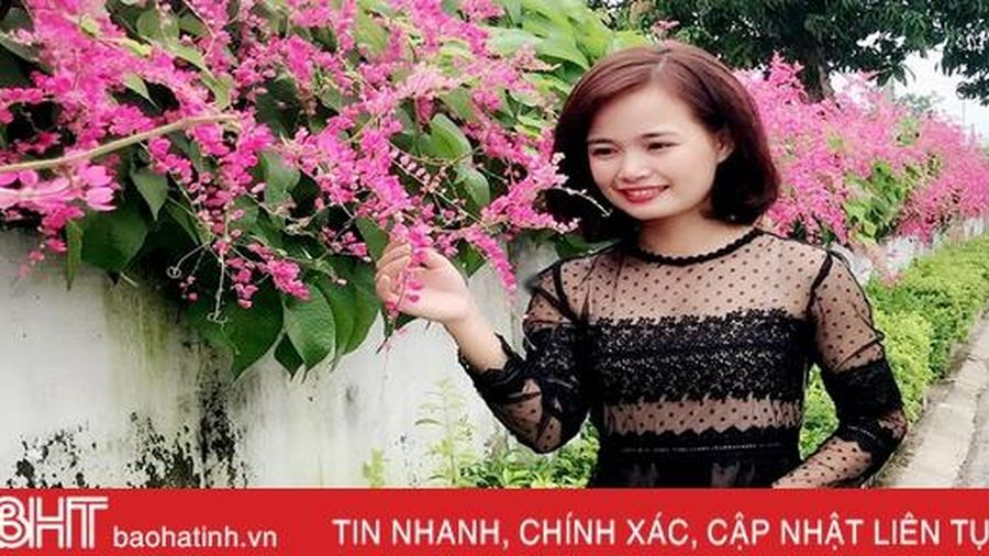 Đẹp ngỡ ngàng những bức tường hoa tigôn trên đường làng Hà Tĩnh