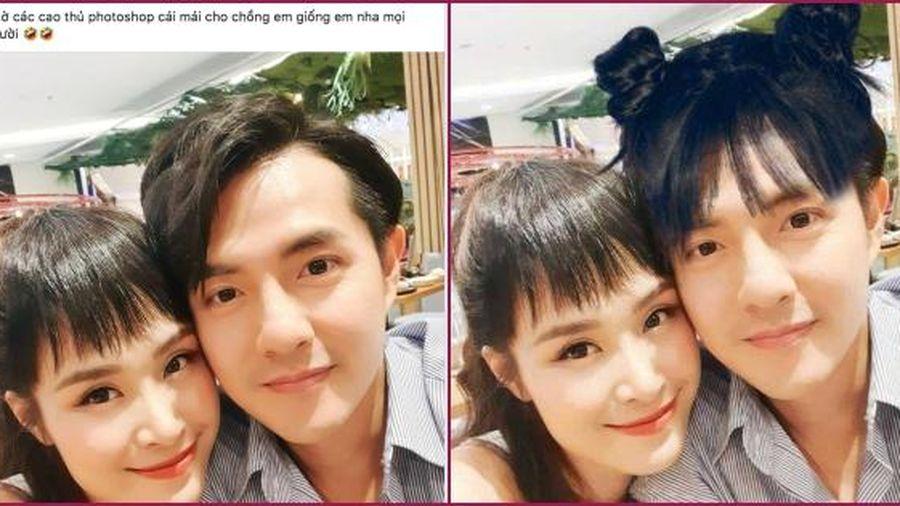 Đông Nhi nhờ fan photoshop tóc mái cho Ông Cao Thắng và kết quả 'hú hồn'