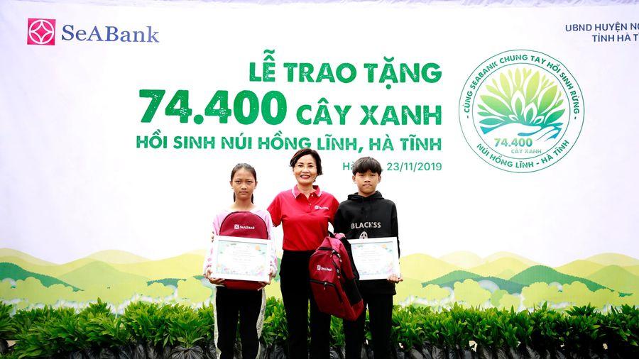 SeABank: Trao tặng 74.400 cây xanh hồi sinh rừng tại núi Hồng Lĩnh, Hà Tĩnh