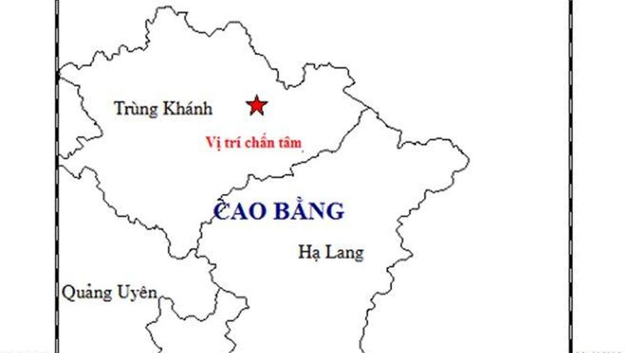 Động đất độ sâu chấn tiêu khoảng 14km xảy ra tại Cao Bằng