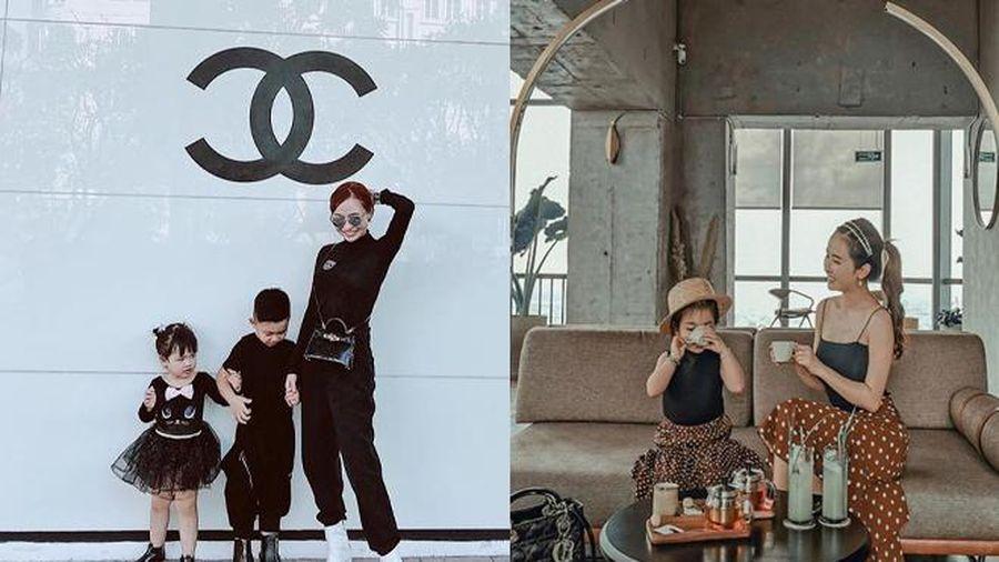 Đầu tư như Mina Phạm - vợ hai Minh Nhựa: 'Sống ảo' nhưng không quên diện đồ đôi chất lừ, 'ton-sur-ton' với con gái yêu