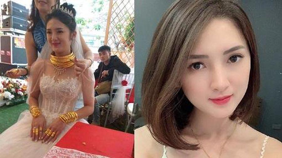 Nhan sắc xinh như hot girl của cô dâu Cao Bằng 'dát vàng từ đầu đến chân'