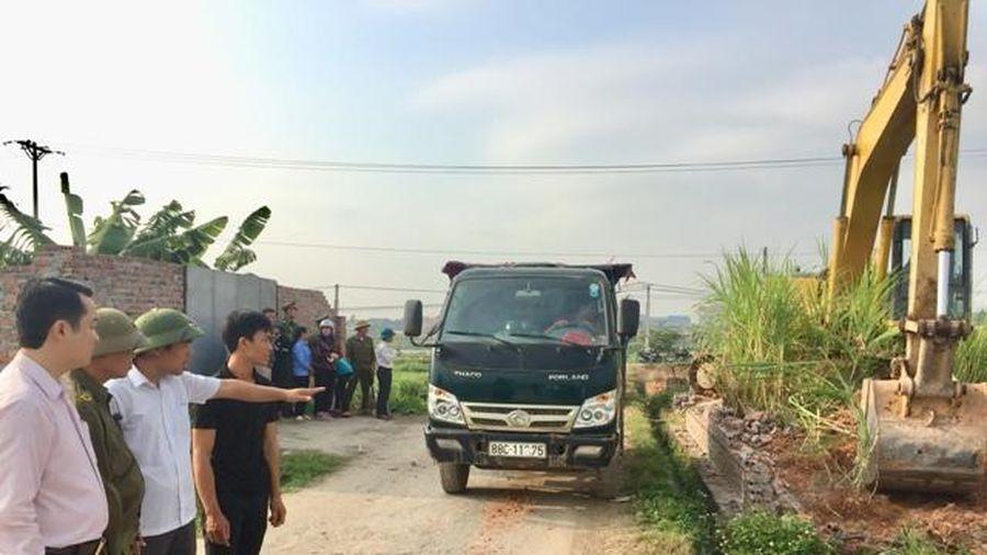 Vĩnh Phúc: Vĩnh Tường xử lí vi phạm lấn chiếm đất nông nghiệp ở xã Đại Đồng