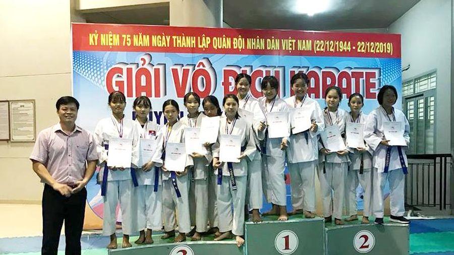 CLB Long Đức dẫn đầu Giải vô địch Karatedo huyện Long Thành 2019