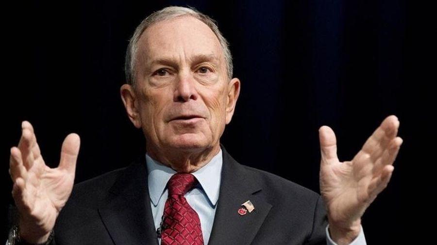 Tỉ phú Bloomberg chính thức tranh ghế Tổng thống Mỹ của ông Trump