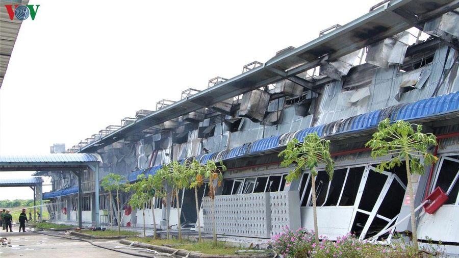 Cháy xưởng ở May Nhà Bè-Sóc Trăng, công nhân vẫn được bảo đảm lương