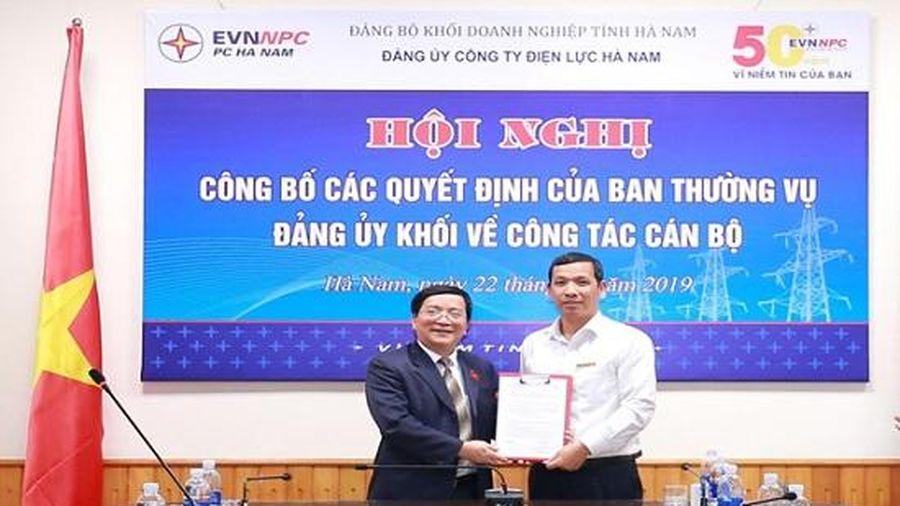 Công bố và trao các Quyết định về công tác cán bộ của Đảng bộ Công ty Điện lực Hà Nam