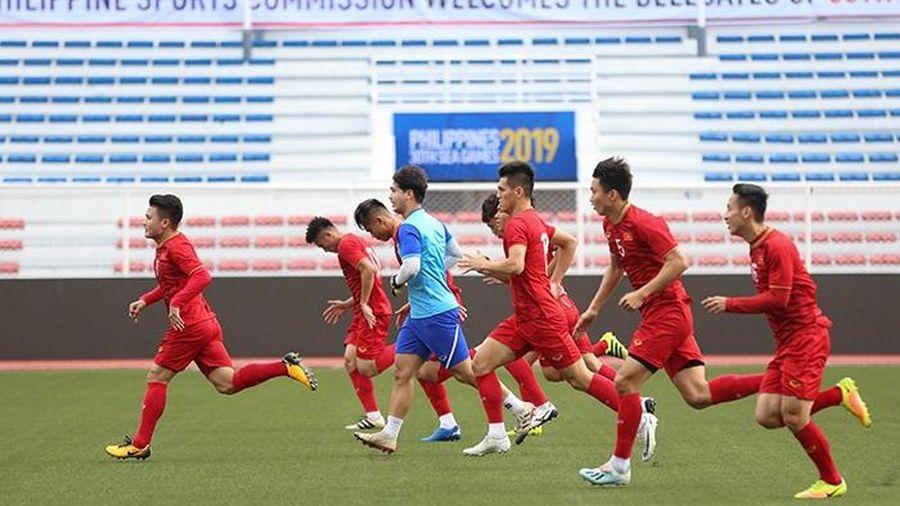 U22 Việt Nam tập luyện trước trận gặp Lào