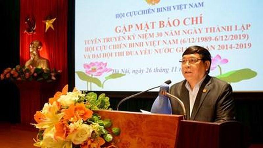 Lễ kỷ niệm 30 năm Ngày thành lập Hội CCB Việt Nam diễn ra ngày 3-12 tại Hà Nội