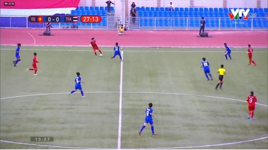 Hết hiệp 1, ĐT nữ Việt Nam 1-0 ĐT nữ Thái Lan: Sự may mắn và bàn thắng phút bù giờ