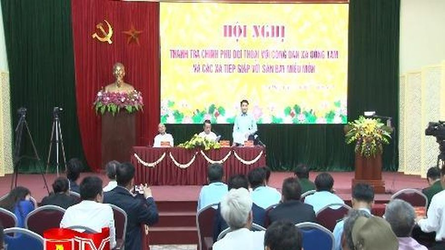 Thanh tra Chính phủ và lãnh đạo TP Hà Nội lắng nghe, đối thoại với người dân xã Đồng Tâm