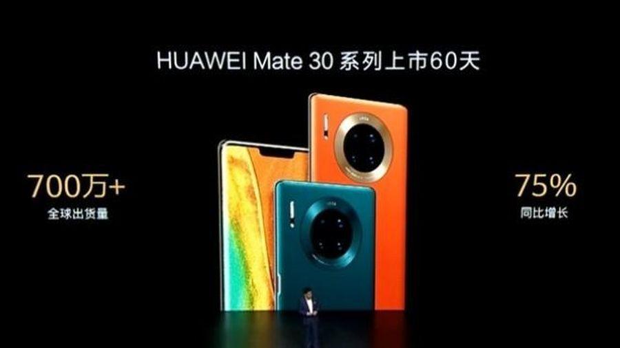 Huawei đã xuất xưởng hơn 7 triệu chiếc Mate 30 chỉ trong vòng hai tháng