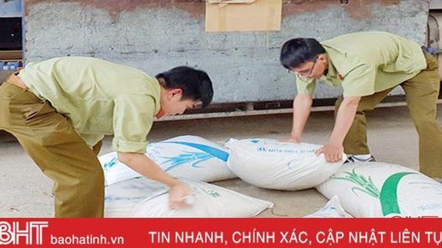 Thu giữ 5 tấn đường bất hợp pháp vận chuyển qua Hà Tĩnh