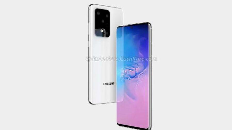 Hình ảnh Render tiết lộ Samsung Galaxy S11+ sẽ có tận năm camera ở mặt sau