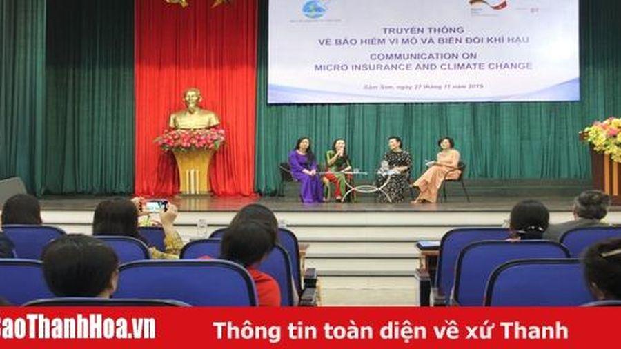 Truyền thông về Bảo hiểm vi mô và biến đổi khí hậu