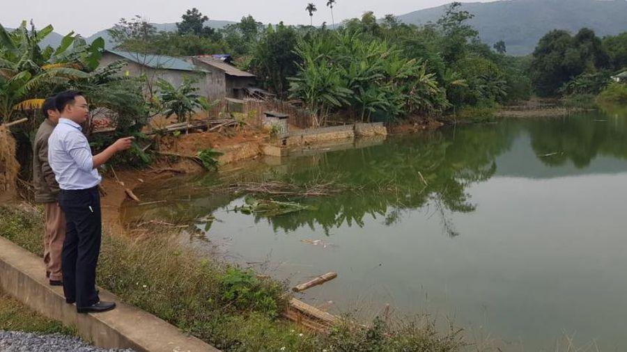 Định Hóa- Thái Nguyên: Vừa được sửa chữa, nâng cấp hồ Thâm Bứng nước đã thấm vào khu dân sinh
