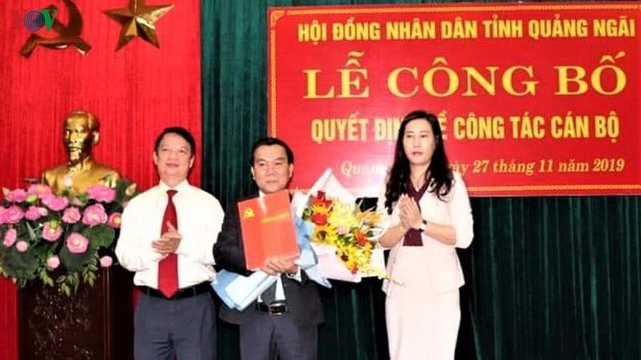 Ông Nguyễn Tấn Đức giữ chức Phó Chủ tịch HĐND tỉnh Quảng Ngãi