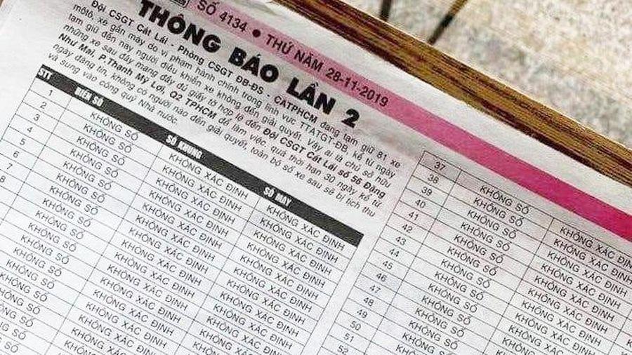 CSGT TP.HCM tìm chủ 81 xe máy với nội dung '3 không'