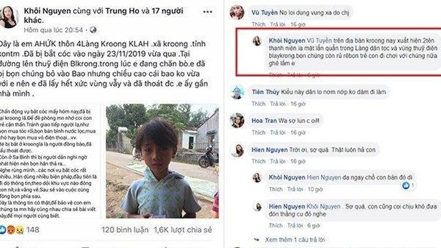 Công an vào cuộc làm rõ tin đồn bắt cóc trẻ em gây hoang mang dư luận tại Kon Tum