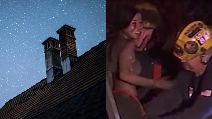 Đi chơi về khuya, thiếu nữ mắc kẹt trong ống khói khi lẻn vào nhà
