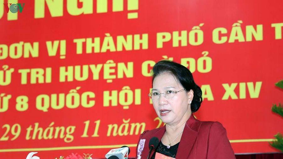 Chủ tịch Quốc hội tiếp xúc cử tri tại huyện Cờ Đỏ, TP. Cần Thơ