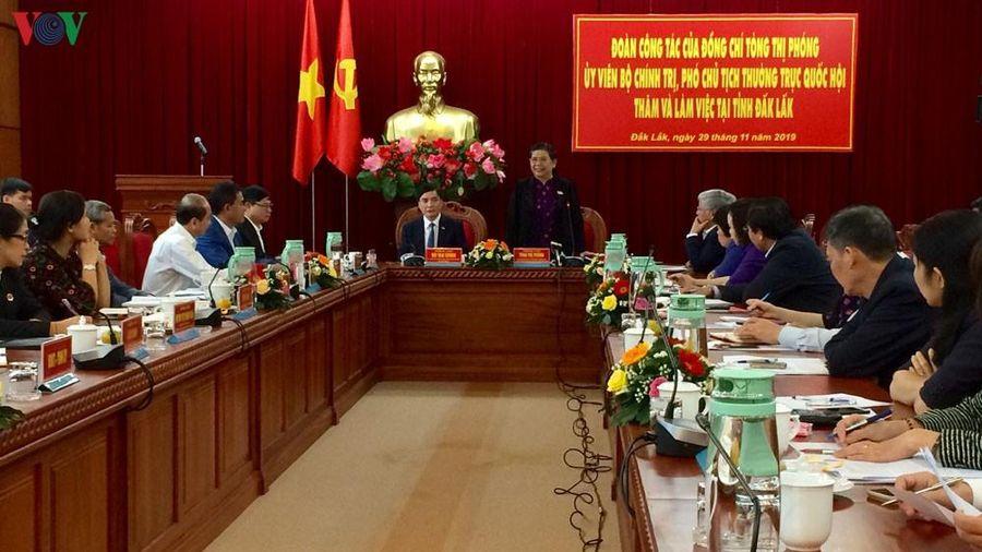 Phó Chủ tịch Quốc hội Tòng Thị Phóng làm việc tại tỉnh Đăk Lăk