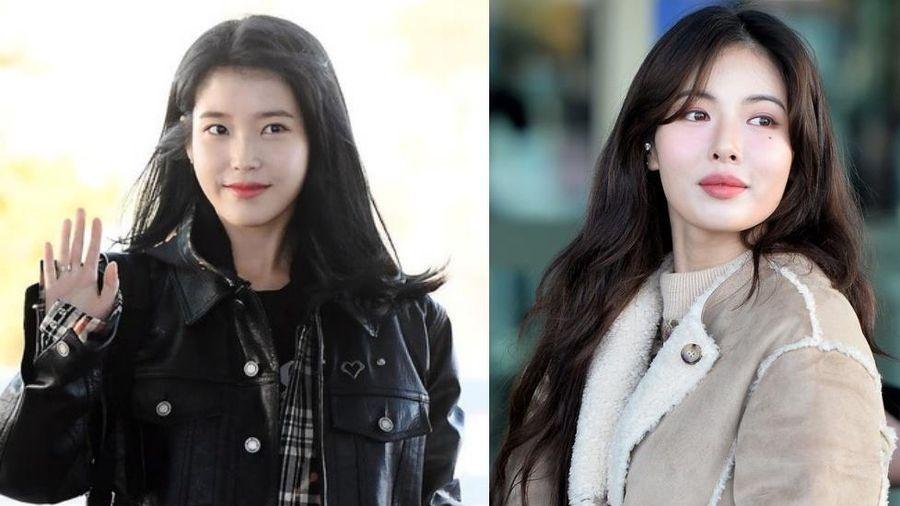 HyunA và IU nổi bật tại sân bay