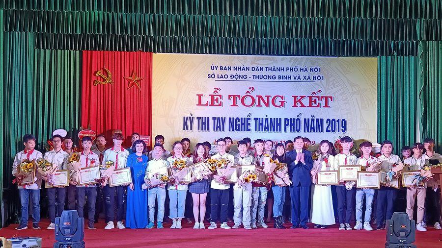 Kỳ thi tay nghề TP Hà Nội năm 2019: 296 thí sinh xuất sắc được trao giải thưởng