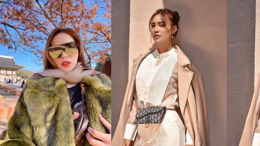 Sao Việt thi nhau khoe thời trang sành điệu ngày đông
