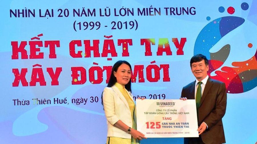 Tặng 175 căn nhà an toàn thiên tai cho đồng bào vùng lũ miền Trung