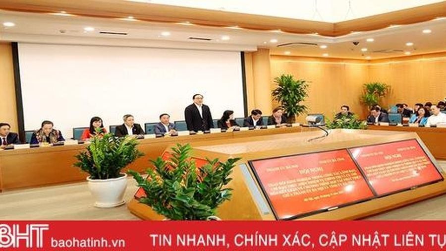 Lãnh đạo TP Hà Nội – Hà Tĩnh chia sẻ kinh nghiệm, hợp tác cùng phát triển