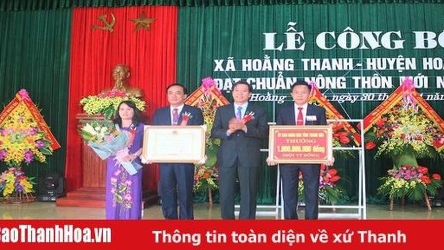 Xã Hoằng Thanh (Hoằng Hóa) đón quyết định công nhận xã đạt chuẩn nông thôn mới
