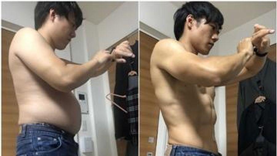 Chàng trai tập Tabata giúp tiêu mỡ bụng, giảm 11kg